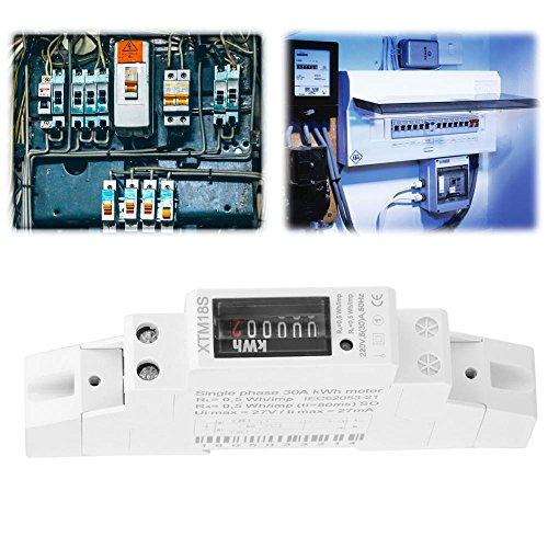 KWh Zähler, 220 V 5 (30) Ein digitaler 1-Phasen 2 Draht 1P DIN Schienen Stromzähler Elektronischer KWh Zähler