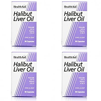 (4 PACK) - HealthAid - Halibut Liver Oil | 90's | 4 PACK BUNDLE from HealthAid