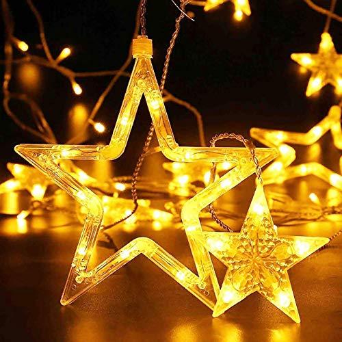 138LED - Tanga de luces de Navidad al aire libre colgantes vintage mesa de interior hada luz para restaurante, jardín, valla pérgola decorativa, 2,5 m, color blanco cálido