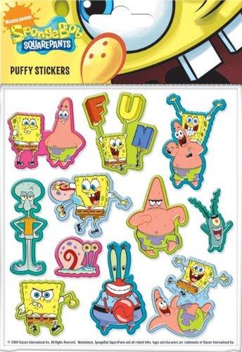 Aufkleber Set Spongebob Schwammkopf