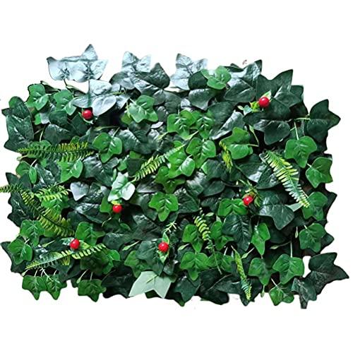 Eeauytr Künstliche Hecke, Simulatie Pflanze dekorativer, Künstliche Pflanzentafel Hintergrund Blumenwand künstliche Innen- und AuÃ?? endekoration