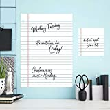 RoomMates RMK2349GMNotebook Paper Dry Erase/Whiteboard Peel and Stick Giant Wall Decals