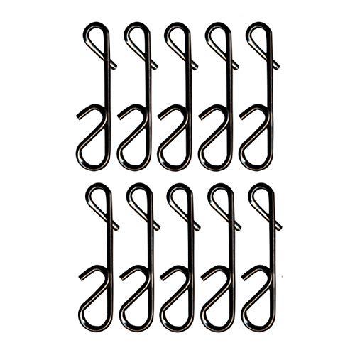 FTM Seika Pro Knotenlosverbinder - 10 Knotenlos Verbinder zum Spinnangeln, Noknot zum Verbinden der Hauptschnur mit dem Vorfach, Größe/Tragkraft:Gr. 0 / 12kg