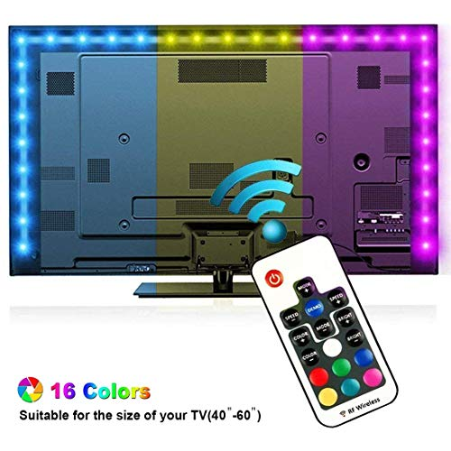 Mixtooltoys Luce Striscia LED TV Retroilluminazione 200cm TV LED Posteriore di Illuminazione Kit led luci RGB per HDTV Luce luminosa di LED RGB di Telecomando RF Strisce LED