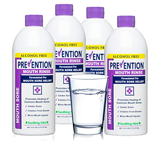 Prevention Mouth Sore Mouth Rinse | Canker Sore Treatment  4 Pack
