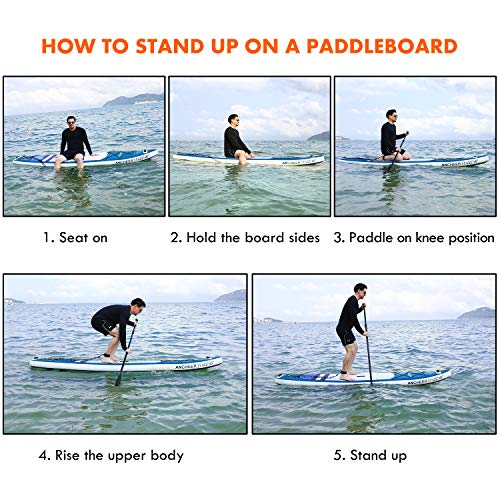 ANCHEER Inflatable Stand Up Paddle Board, 11' Touring iSUP Double...