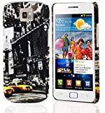Cadorabo – TPU Hard Cover per  Samsung Galaxy S2 / S2 Plus  - Case Cover Involucro Bumper Accessorio in Design: New York Cab