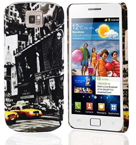 Cadorabo – TPU Hard Cover per  Samsung Galaxy S2 / S2 Plus  - Case Cover Involucro Bumper Accessorio in Design: New York Cab