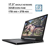 2020 Dell G7 17 7790 17.3 Inch FHD 1080P Gaming Laptop, Intel 6-Core i7-9750H up to 4.50 GHz, NVIDIA RTX 2060 6GB, 32GB DDR4 RAM, 1TB SSD (Boot) + 2TB HDD, HDMI, WiFi, Backlit KB, Windows 10, Gray