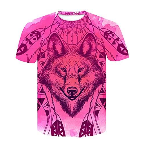 T Shirts for Men Adult 71D Print,Fashion Men's Round Neck T-Shirt 3D Poster Image Digital Printing Short sleeve-26_M