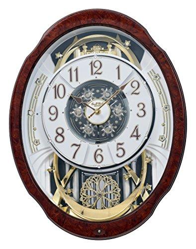 Rhythm Clocks 'Woodgrain Marvelous' Magic Motion Clock