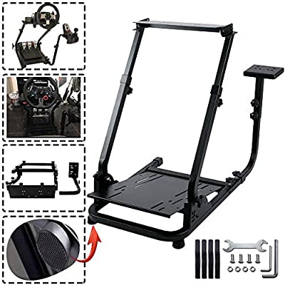 Minneer Steering Racing Wheel Stand for Logitech G25, G27, G29, G920 Wheel, Pedal & Shifters Not Included