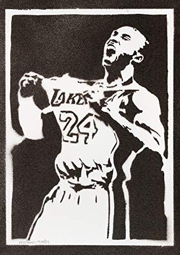 Kobe Bryant Poster Plakat Handmade Graffiti Street Art - Artwork