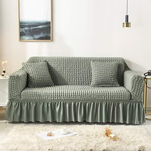 Dujie Funda elástica de color sólido para sofá de sala de estar impresa a cuadros seccionales de tela escocesa, funda de sofá en forma de L de 1 a 4 plazas (color: 19, especificación: L 170 230 cm)