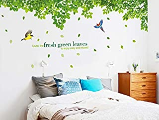Removable Wall Sticker –fresh Green Leaves