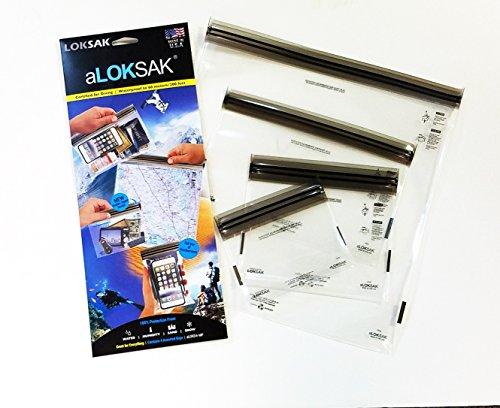 Loksak LO-004679 Sac étanche Noir/Transparent Taille Unique