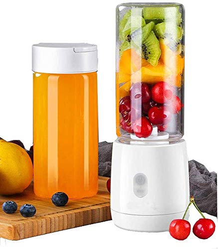 HEWEI Portable Personal Blender for Smoothie and Shakes 420 ml juicer Cup with Removable Base and Rechargeable USB for Office and Travel at Home Outdoors