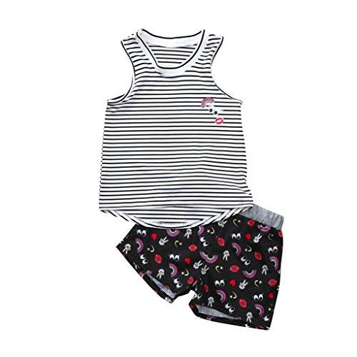 Longra Bamboe meisje pyjama T-shirt ananas bedrukt T-shirt schattige jurk tank top zomer zonder mouwen ronde hals Chic blouse en shorts set