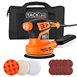 Random Orbit Sander, TACKLIFE 5-Inch Sander Machine with 10Pcs Sandpapers and 3 Pcs Polishing Kit, 6 Variable Speeds 13000 RPM Electric Sander, Vacuum Sunction, Ideal for DIY Sanding Polishing PRS02A
