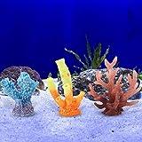 3 tipos de plantas de coral artificiales vívidas para decoración de acuarios