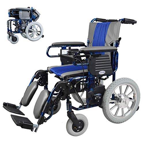 YUXINCAI elektrische rolstoel licht Folding met joystick-schakelaar handmatig elektrisch 12A lithium batterij