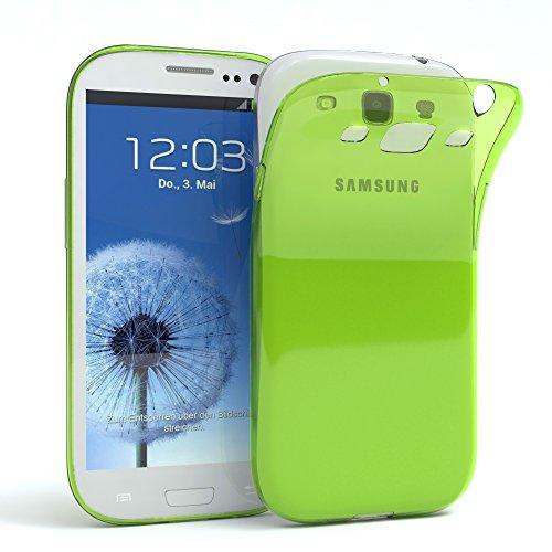 EAZY CASE Hülle kompatibel mit Samsung Galaxy S3 / S3 Neo Schutzhülle Silikon, Ultra dünn, Slimcover, Handyhülle, Silikonhülle, Backcover, Durchsichtig, Klar Grün