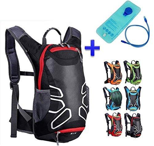 Theoutlettablet Zaino impermeabile per bici della bicicletta idratazione del sacchetto di acqua (2L) 15 litri di capacità zaino montagna - Escursionismo - mountain bike - MTB - Tipo Camelbak