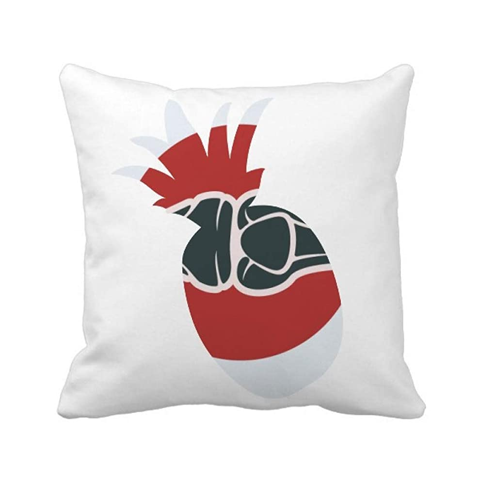 マンハッタンリテラシーある足関節は人体のイラスト パイナップル枕カバー正方形を投げる 50cm x 50cm