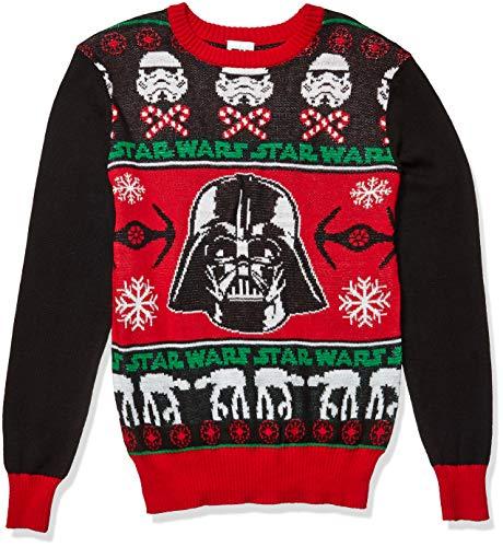 Star Wars Men's Ugly Christmas Sweater, Vader/Black, 2XL