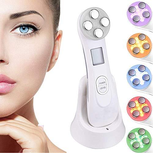 Facial Aparato Radiofrecuencia, 6 Modos de Terapia de luz LED, Antiarrugas, Anti-envejecimiento, Rejuvenecimiento, Limpieza Profunda