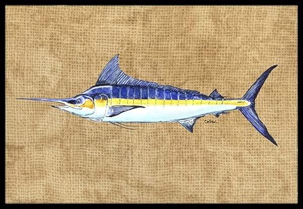 Caroline S Treasures 8818JMAT Blue Marlin Indoor Or Outdoor Mat 24 X 36 Multicolor