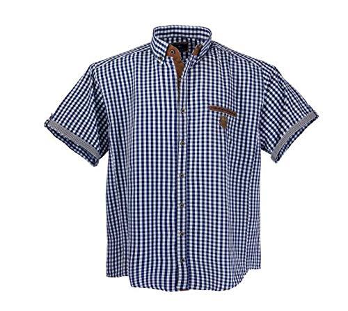 Lavecchia Herren Kurzarm Hemd Jeansblau-Weiss Übergröße 3XL 4XL 5XL 6XL 7XL LV-1129 (5XL, Jeansblau-Weiss)