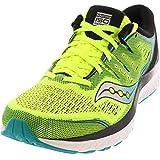Saucony Men's Guide ISO 2 Running Shoe, Citron/Black, 11.5 M US