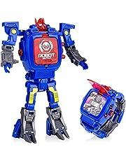 YuWei Smart Robot Toys Watch Kids 2 in 1 Electronic Transformers Toys Watch Deformed Robot Toys Regalo per Bambini 5-12 Anni Ragazzi e Ragazze