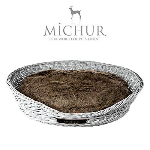 Michur Maxi, Hundebett, Katzenbett, Hundekorb, Hundesofa, WEIDE, Rattan, Grau, in verschiedenen Größen erhältlich!