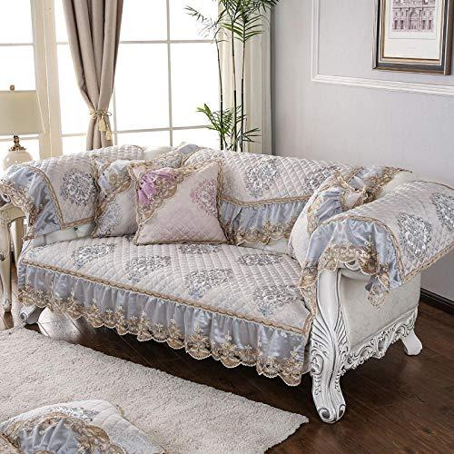 Suuki Cubre Sofa Desmontable y Lavable,Fundas de cojín de sofá Antideslizantes de Tela,Funda de sofá Universal para Sala de Estar,Protector de sofá de Jacquard de Lino,Manta de sofá de 2/3/4 plazas-