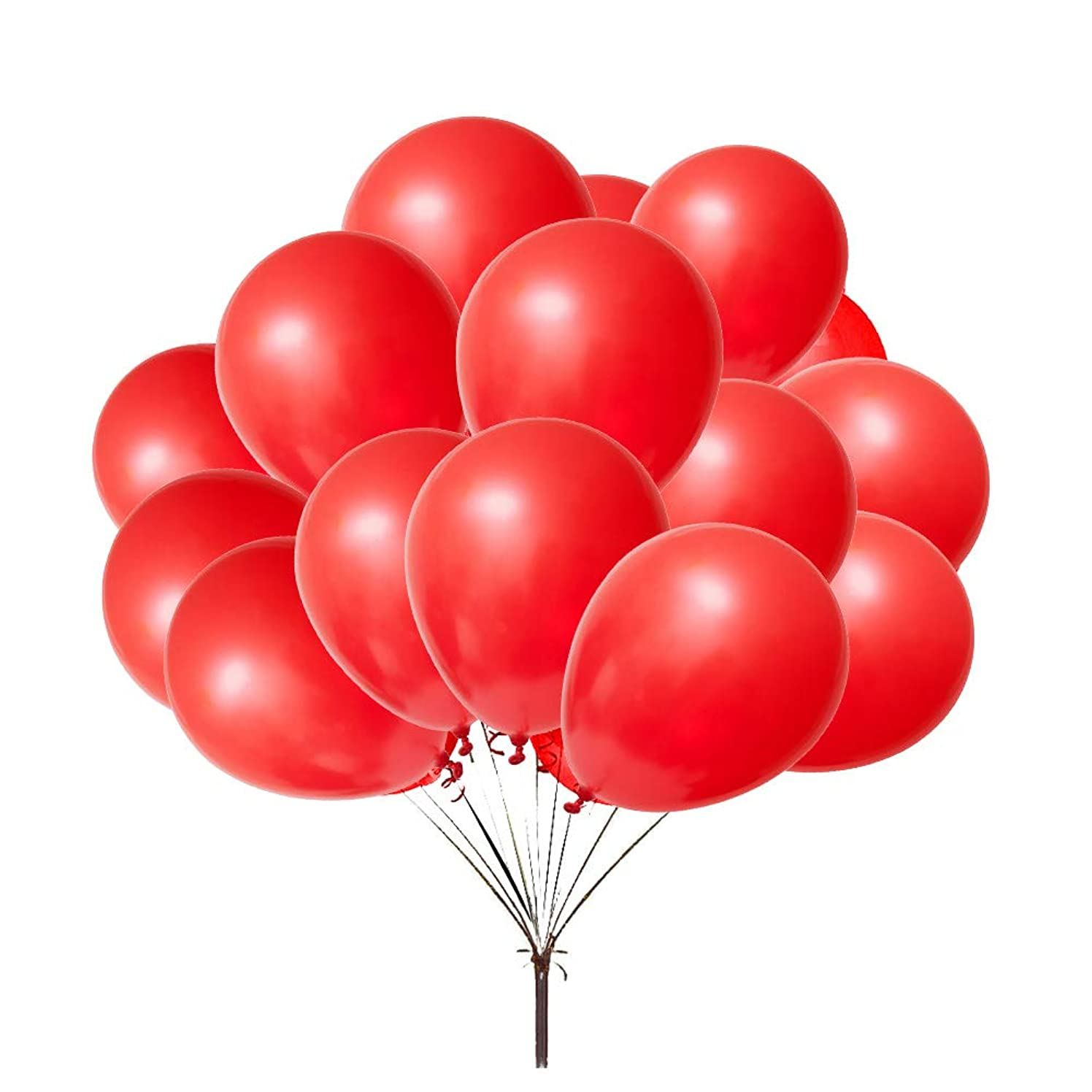 Thicken Red balloon 12'' Pearlized Latex Balloons Party Decoration Accessories & Party balloons(Pack of 100)