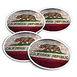 Pegatinas de vinilo (juego de 2) 10 cm – Rústica California Repubblica USA Viajes divertidos calcomanías para portátiles, tabletas, equipaje, reserva de chatarra, frigoríficos #8486