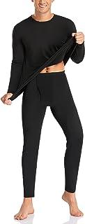 SIMIYA Men's Thermal Underwear Set Base Layer Long Sleeve Top Ultra Soft Long Johns Fleece Thermals Leggings for Winter Wo...