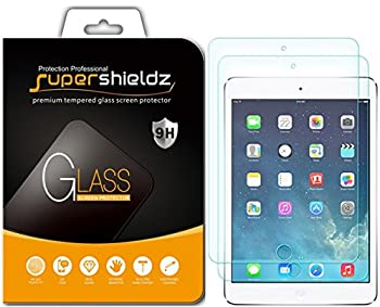 2 Pack  Supershieldz Designed for Apple iPad 9.7 inch  2018 and 2017  iPad Pro 9.7 inch iPad Air 2 and iPad Air 1  9.7 inch  Tempered Glass Screen Protector Anti Scratch Bubble Free