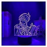 Wtuxchib Luz Nocturna Luz de Noche LED Cambio Cambio DE Cambio USB APOCADO DE LA BATERÍA USB (Color : 16 Color with Remote, Emitting Color : YX132)