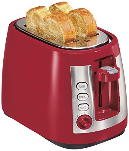 Hamilton Beach Ensemble Extra-Wide Slot 2-Slice Toaster, Red (22812)