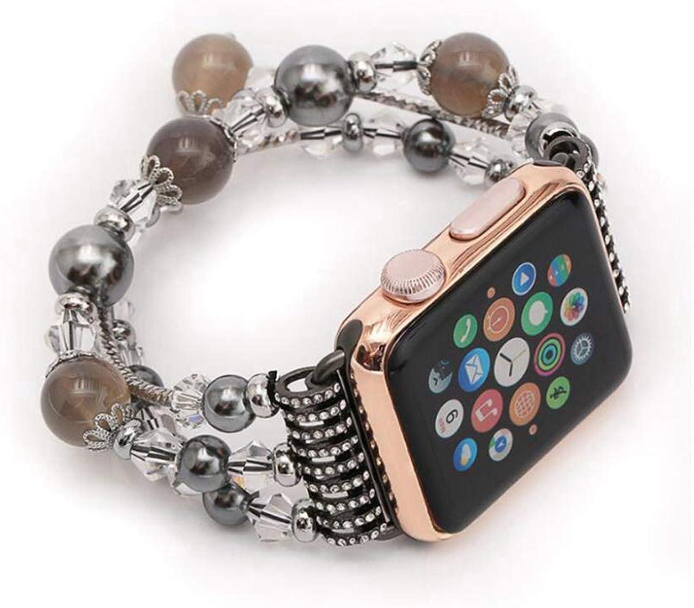 YQSMYSW Iwatch Strap Apple Watch Handmade Bracelet Strap StretchElasticated iwatch Strap 42mm Sport Adjustable Replacement Watch Strap