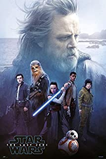 Star Wars: Episode VIII - The Last Jedi - Movie Poster/Print (Luke Skywalker & The Resistance) (Size: 24 inches x 36 inches)