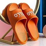 XZDNYDHGX Sandalias con Punta Abierta Hombre,Zapatillas de Ducha de baño con Letras de Interior para el hogar Unisex, Sandalias de Playa Suaves para Mujer para apartamento Naranja EU 35-36