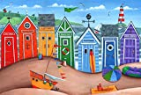 The Poster Corp Peter Adderley – Beach Hut Rainbow Scene
