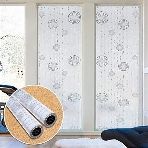 LMKJ Película de Vidrio de Ventana esmerilada Blanca PVC Autoadhesivo Opaco Etiqueta de Vidrio de privacidad decoración del hogar Cubierta de Ventana A29 45x100cm