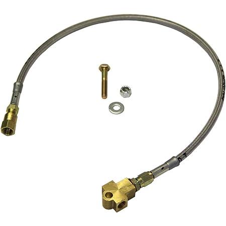 Blue Hose /& Stainless Banjos Pro Braking PBR2806-BLU-SIL Rear Braided Brake Line