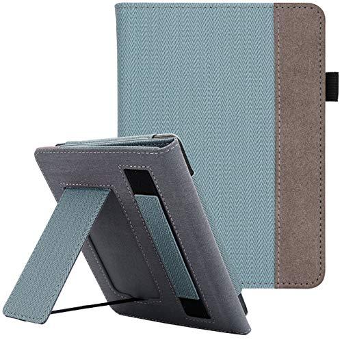 WALNEW - Funda para Kindle Paperwhite (función Atril, función de Encendido y Apagado, Incluye Correa de Mano)