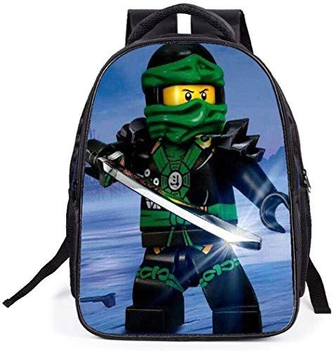 XWXBB Ninjago-schooltas, waterdichte duurzame rugzak voor de jeugdige reis van Anime-3D buiten E